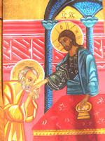 Eucharist  Christ and Peter