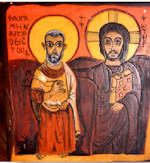 The Christ and Saint Menes Superior of the Monastery of Baouit Egypt